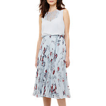 Buy Phase Eight Patricia Pleated Floral Dress, Mint/Multi Online at johnlewis.com