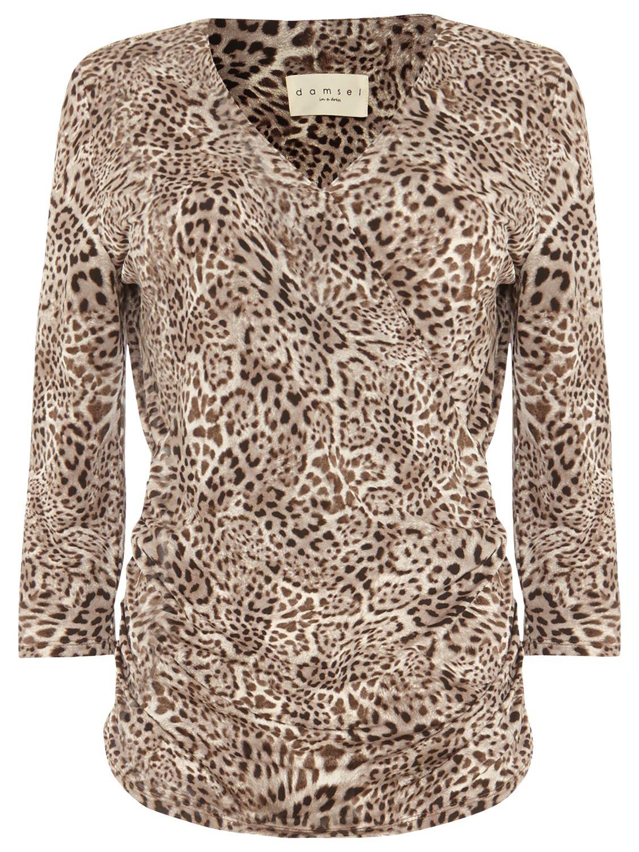 Damsel in a dress Damsel in a Dress Leopard Kacey Top, Brown