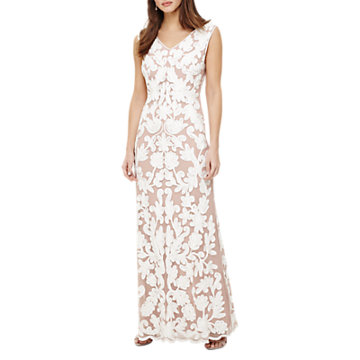 Phase Eight Collection 8 Yvie Tapework Maxi Dress, White