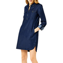 Buy Warehouse Denim Shirt Dress, Mid Wash Denim Online at johnlewis.com
