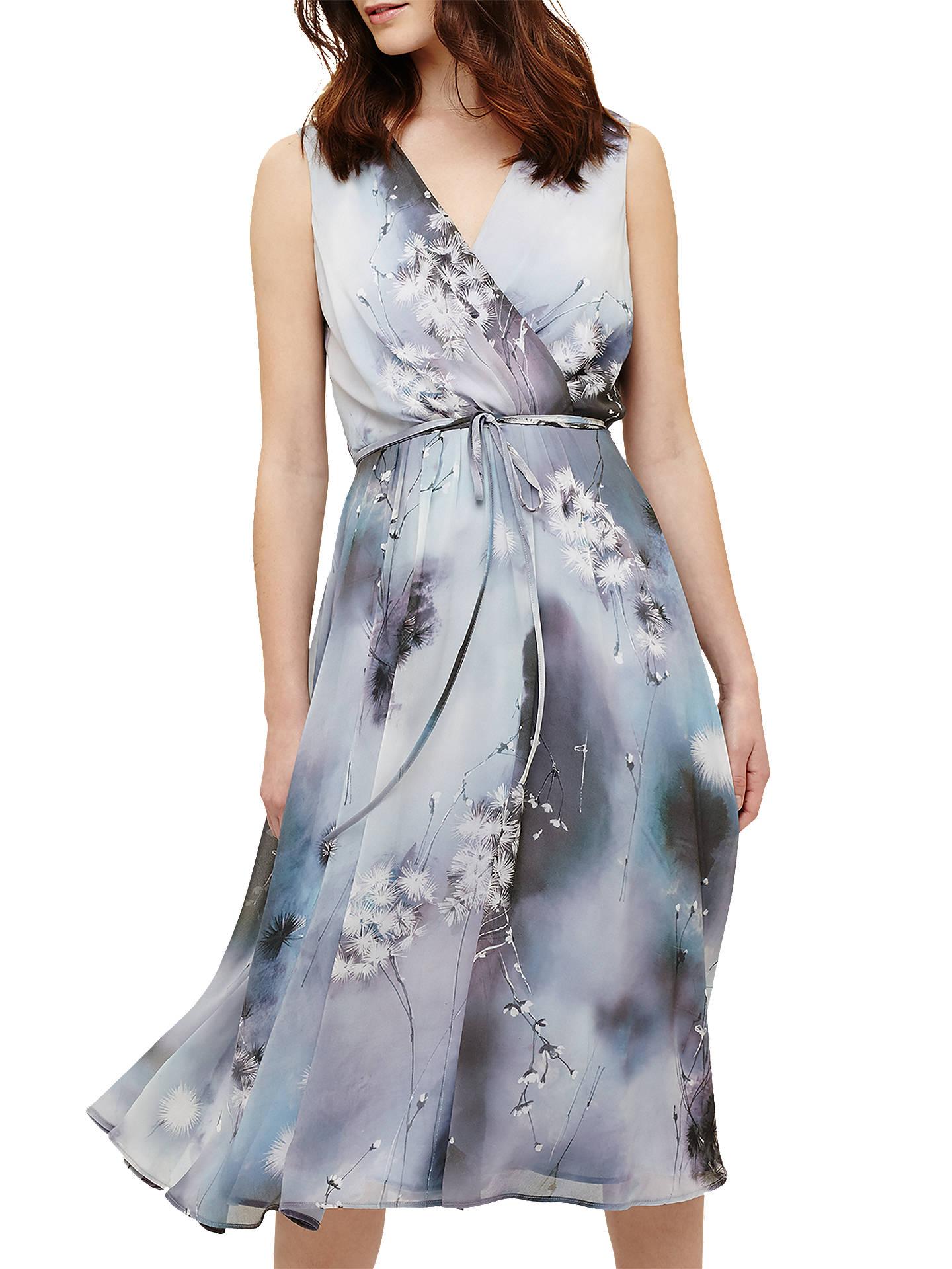 Phase Eight Dandelion Print Dress Blue Multi At John Lewis Partners