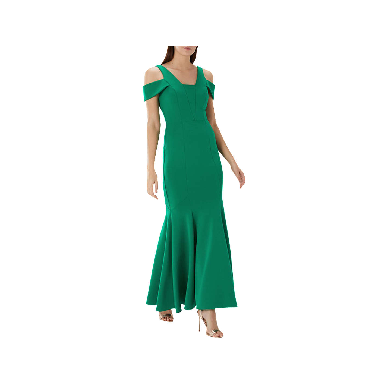 Coast Revel Scuba Maxi Dress, Green at John Lewis