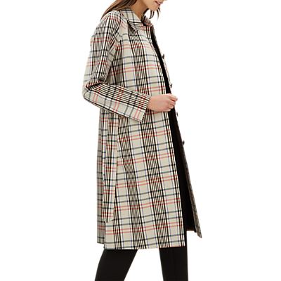 Jaeger Check Trench Coat, Stone