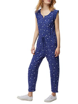 White Stuff Bird Seed Jumpsuit, Blue