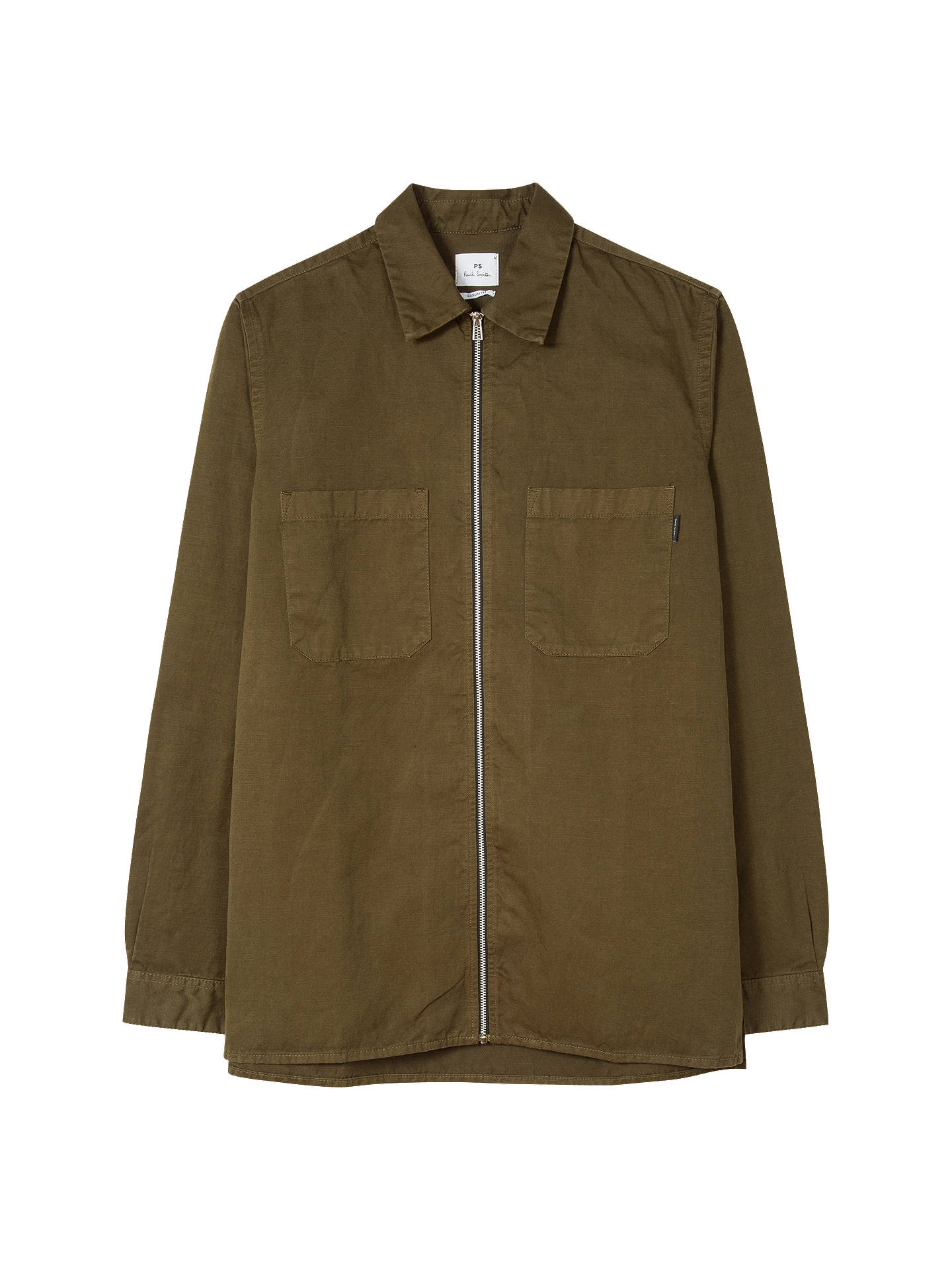 Buy PS Paul Smith Shirt Jacket, Green, L Online at johnlewis.com