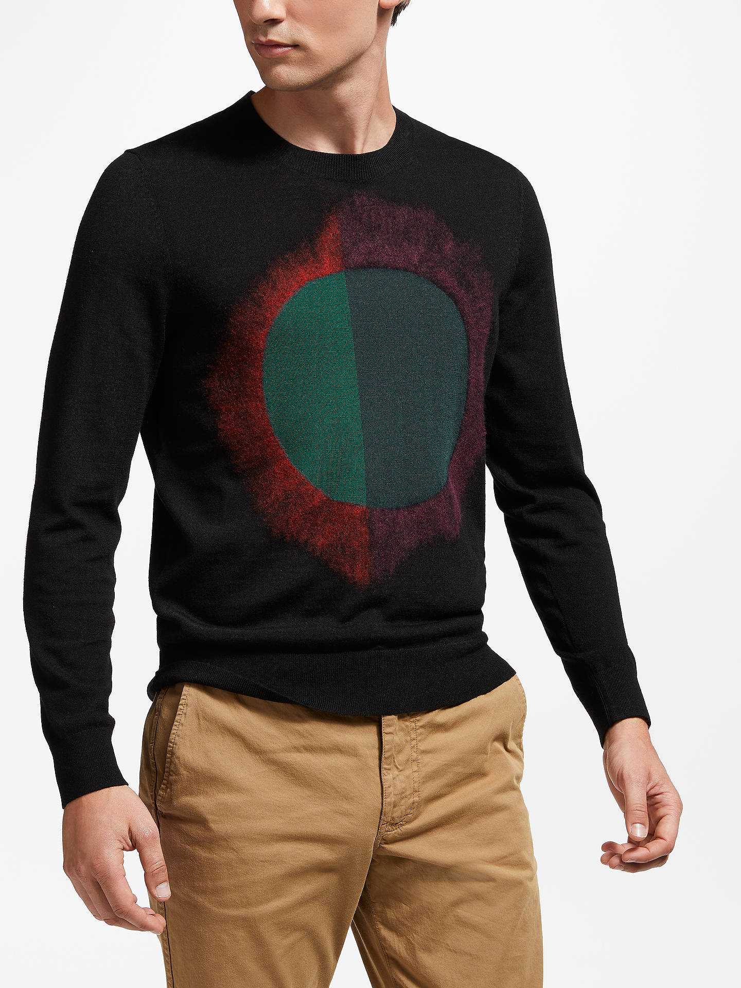 Buy PS Paul Smith Sun Print Jumper, Black, XL Online at johnlewis.com