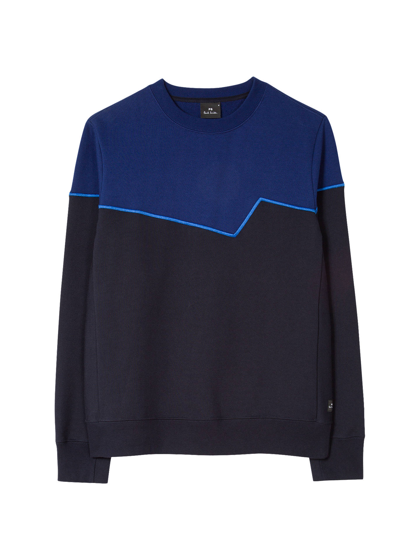 Buy PS Paul Smith Contrast Sweatshirt, Navy/Blue, M Online at johnlewis.com