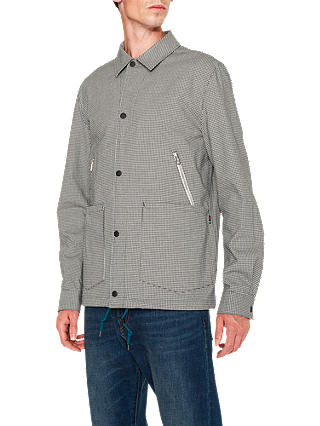 Buy PS Paul Smith Gingham Coach Jacket, Black/White, XL Online at johnlewis.com