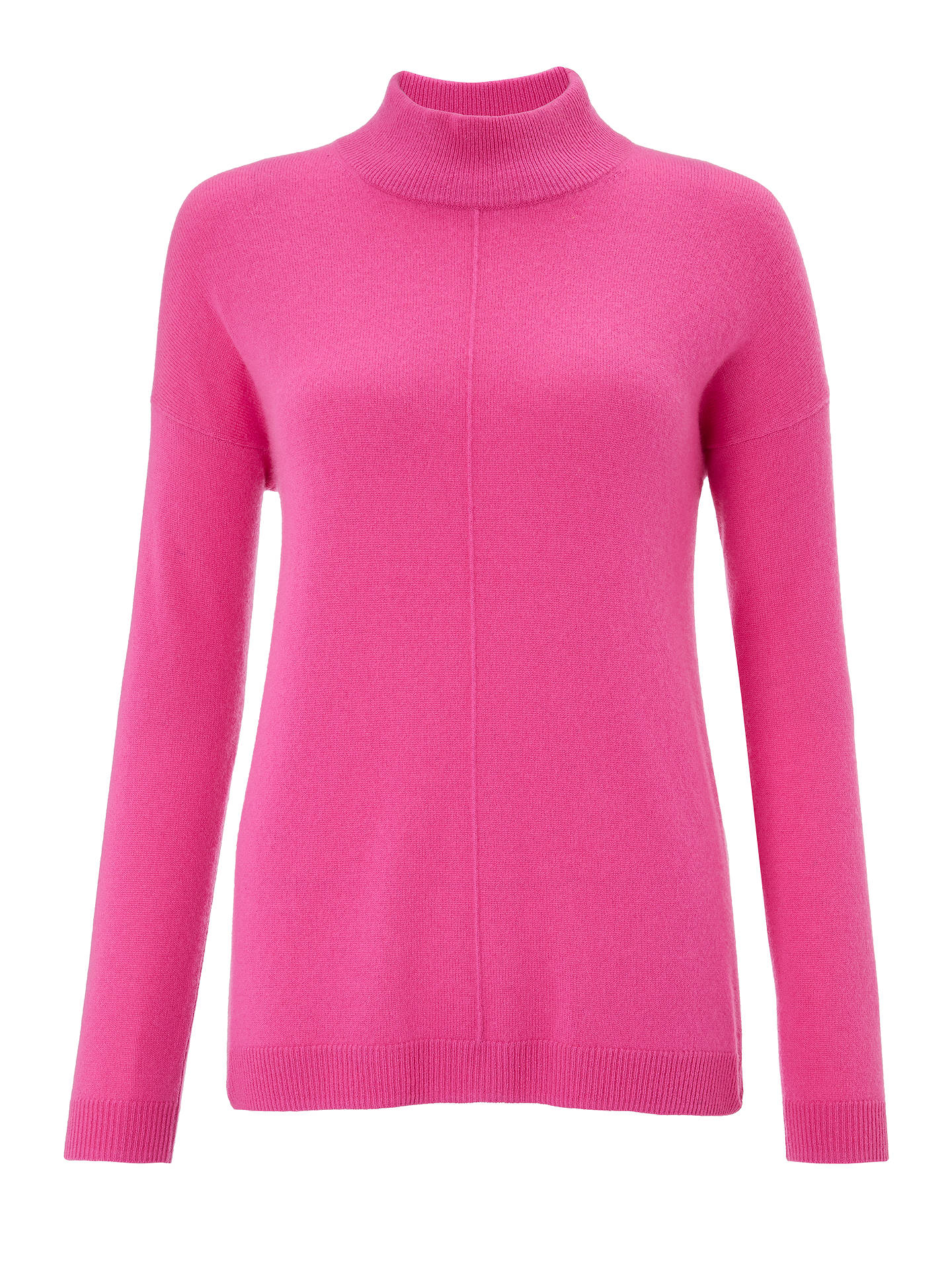 BuyJohn Lewis & Partners Cashmere Turtleneck Sweater, Raspberry, 8 Online at johnlewis.com