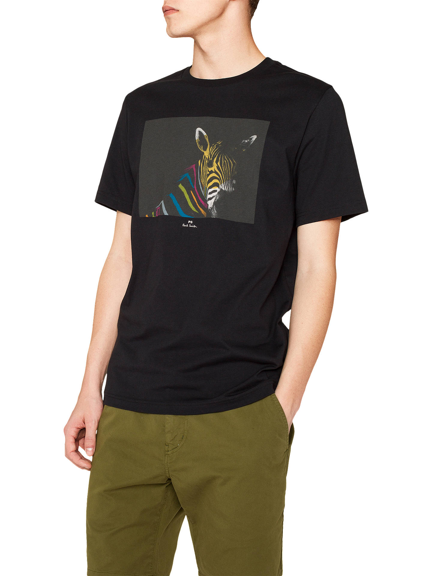 2ad72bdf Buy PS Paul Smith Zebra Graphic Print T-Shirt, Black, XL Online at ...