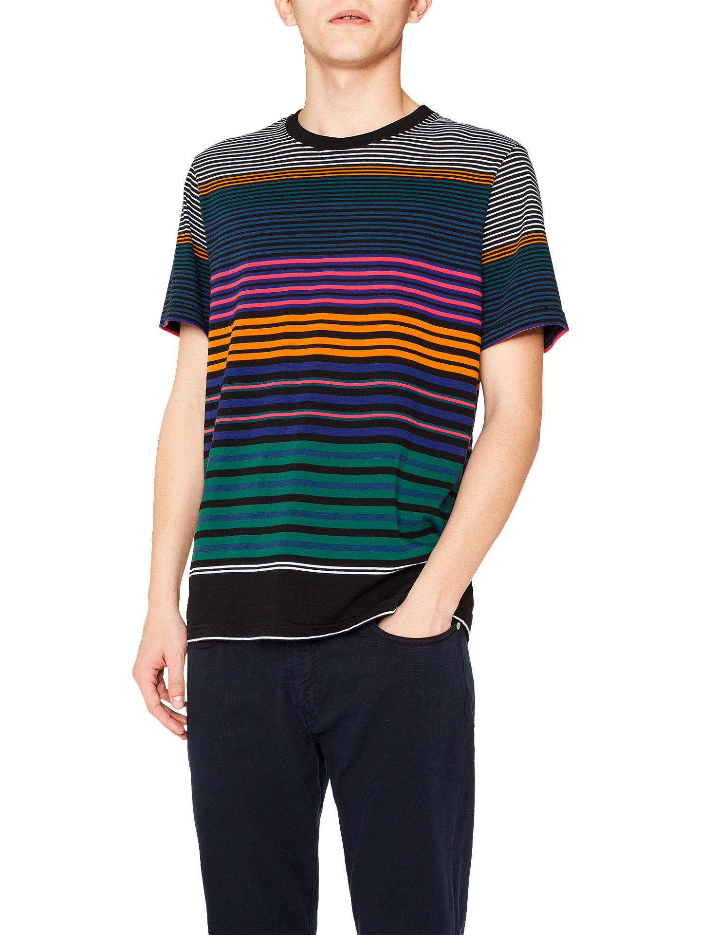 BuyPS Paul Smith Short Sleeve Stripe T-Shirt, Multi, XL Online at johnlewis.com