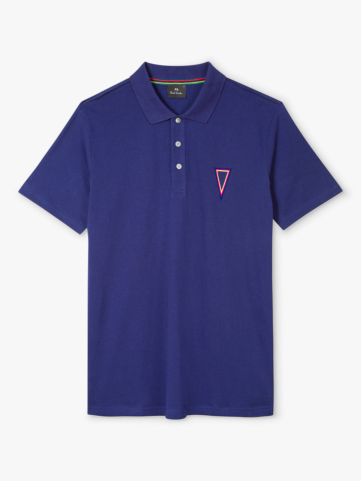 BuyPaul Smith Pendant Jersey Polo, Blue, S Online at johnlewis.com