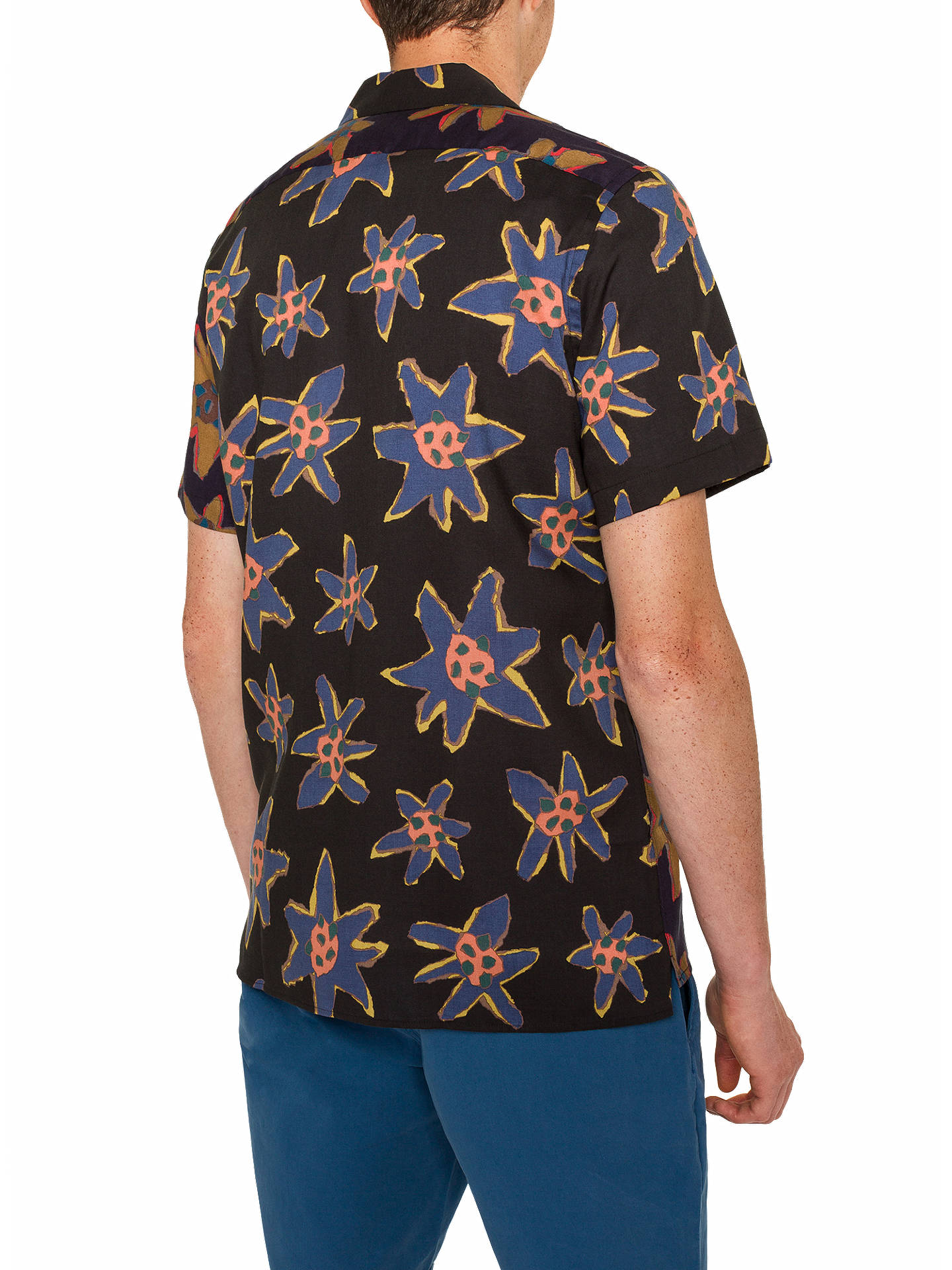 Buy PS Paul Smith Casual Fit Floral Shirt , Blue, S Online at johnlewis.com