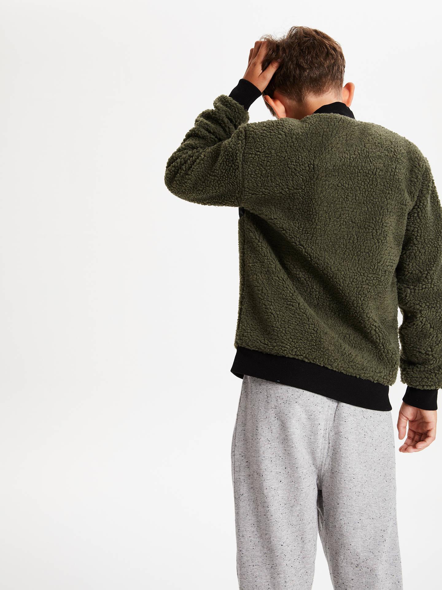 John Lewis & Partners Boys' Fleece Zip Jacket, Green at John Lewis &  Partners