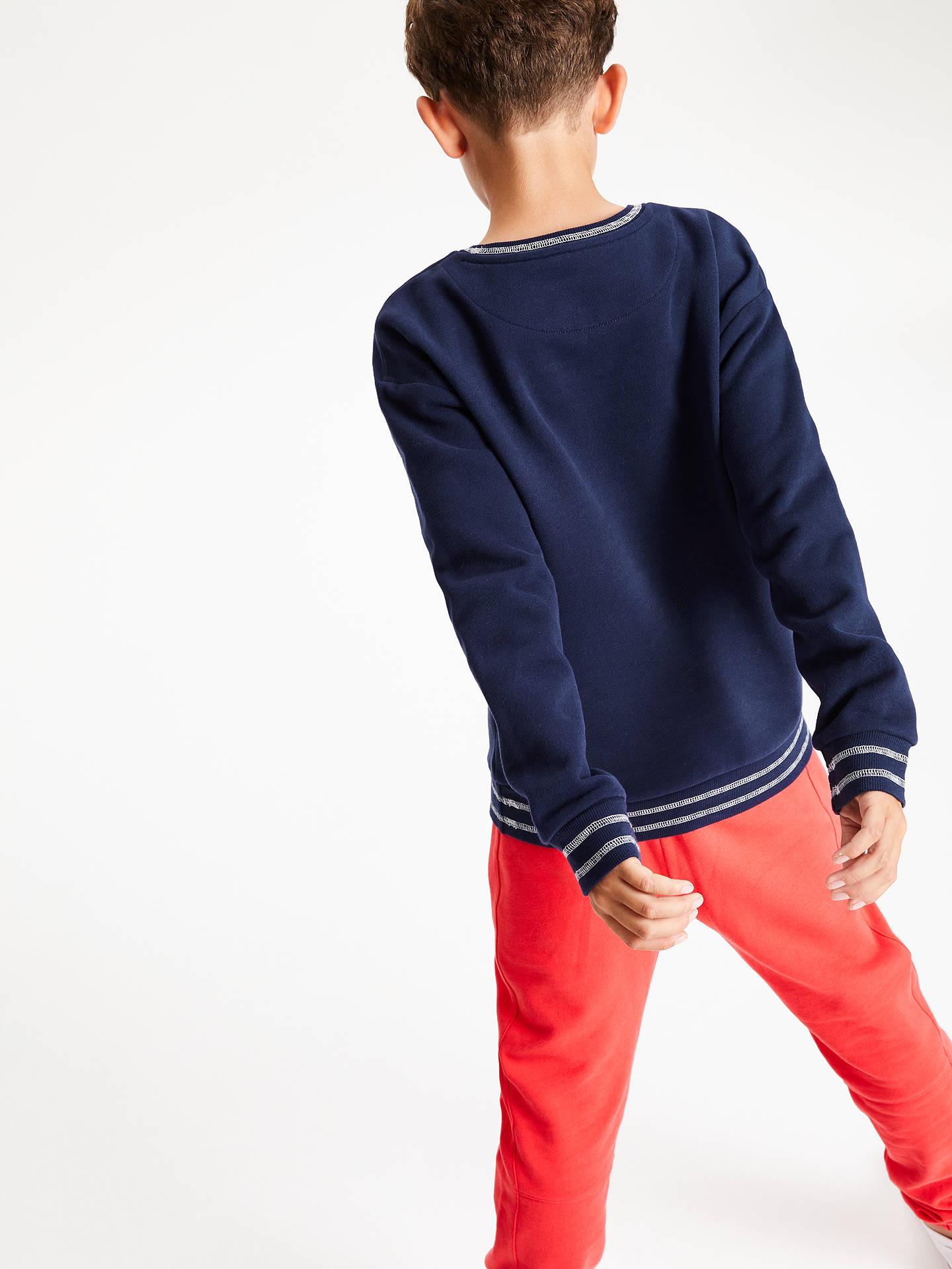 4d0418968 ... Buy John Lewis & Partners Boys' Tiger Long Sleeve Sweater, Navy, 8 years  ...