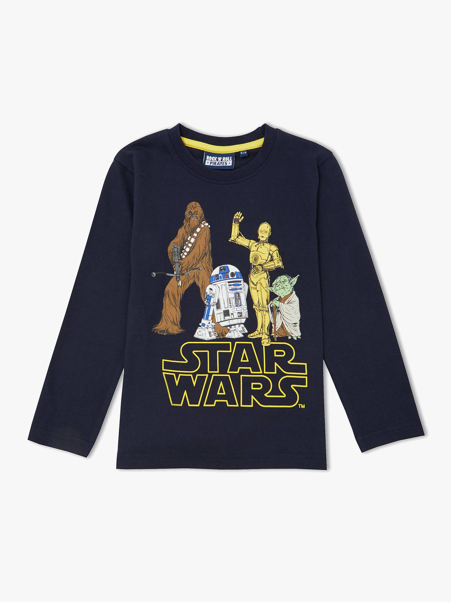 BuyStar Wars Boys' Character Print T-Shirt, Navy, 3-4 years Online at johnlewis.com