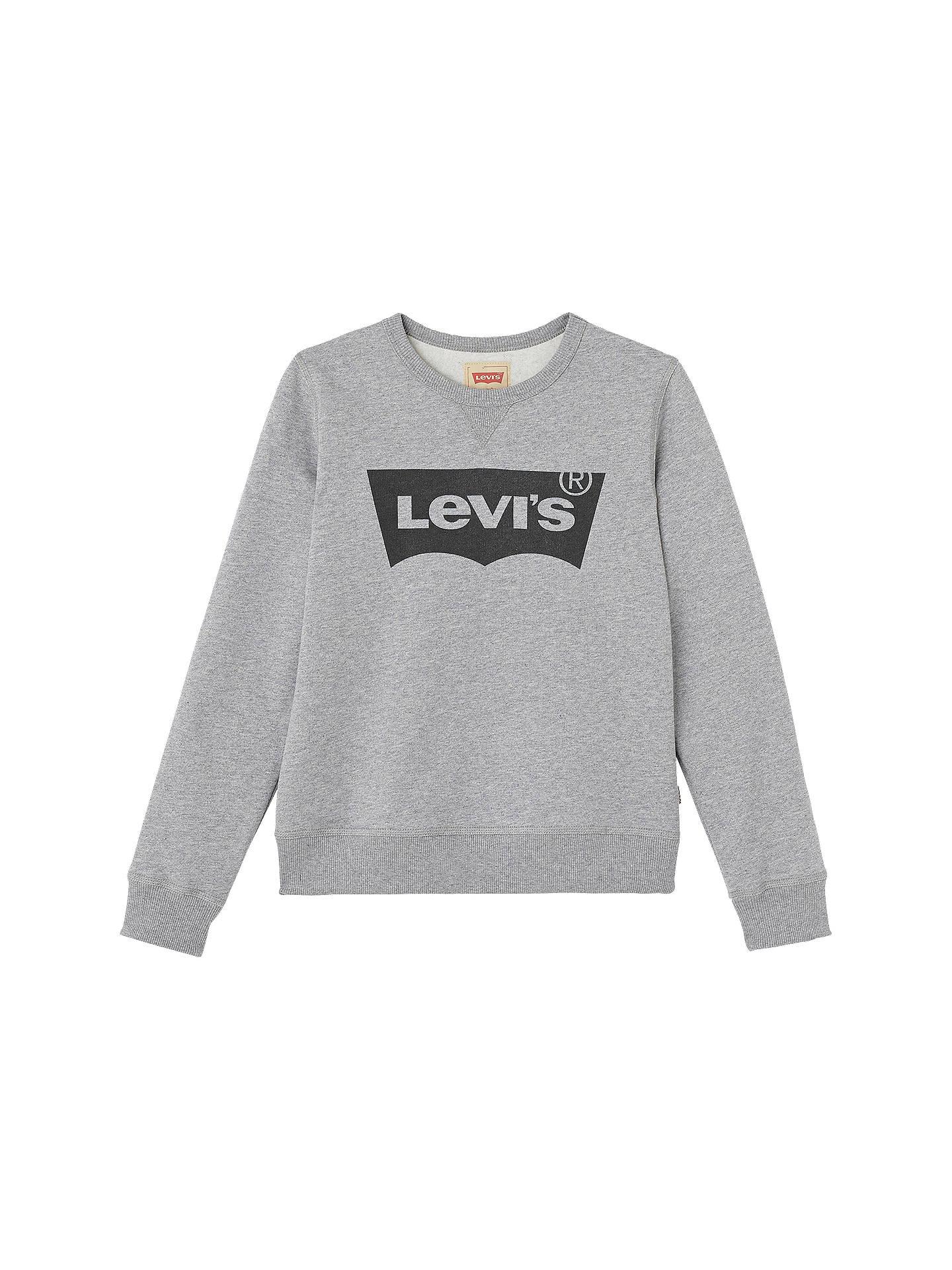 Levi's Boys' Batwing Logo Print Sweatshirt, Grey at John