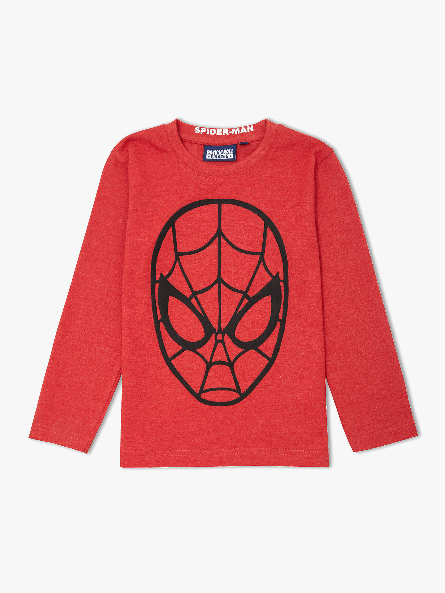 Spider Man Boys Embossed Face T Shirt Red At John Lewis Partners