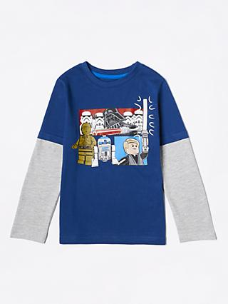 LEGO Boys' Star Wars T-Shirt, Blue