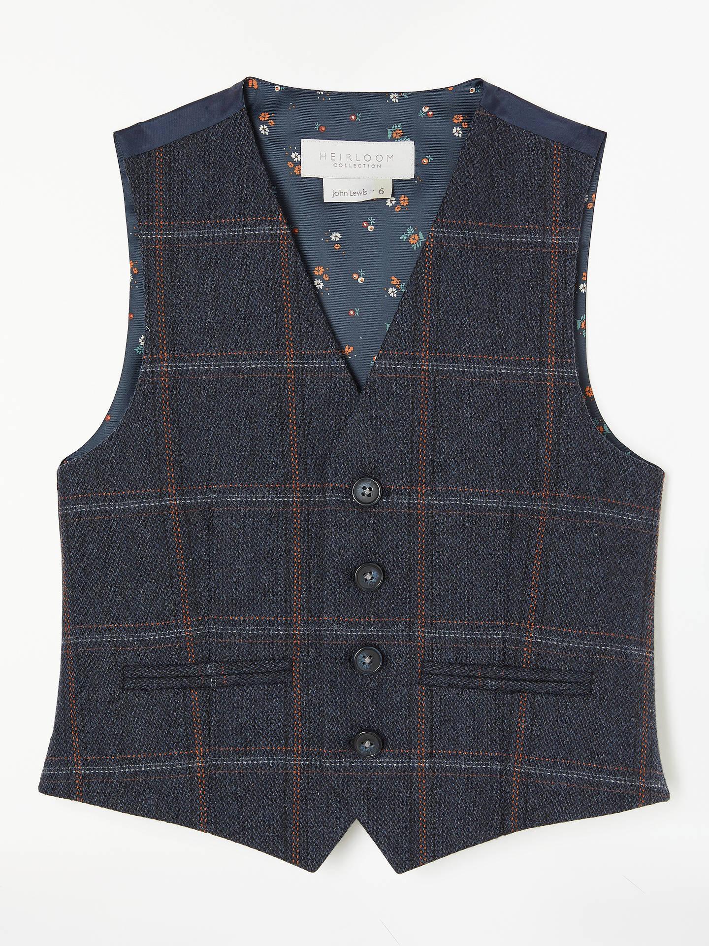 c67e6a6c1e5 Buy John Lewis   Partners Heirloom Collection Boys  Check Tweed Waistcoat