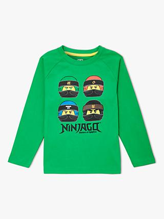 LEGO Children's Ninjago Long Sleeve T-Shirt, Green