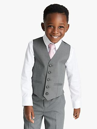 John Lewis & Partners Heirloom Collection Boys' Suit Waistcoat, Grey