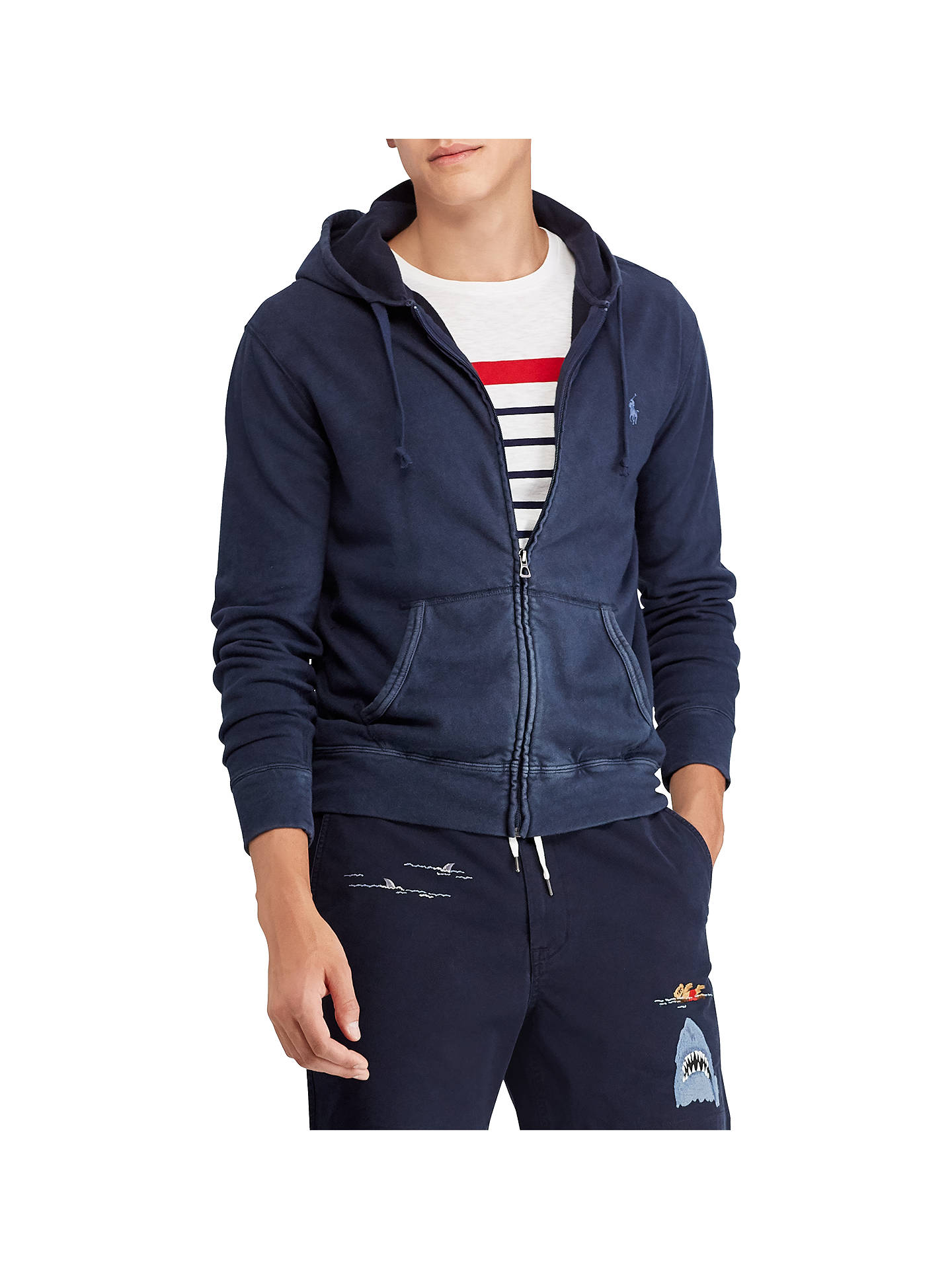 ed5153d7b order buypolo ralph lauren jersey cotton full zip hoodie aviator navy m  online at johnlewis e1caf