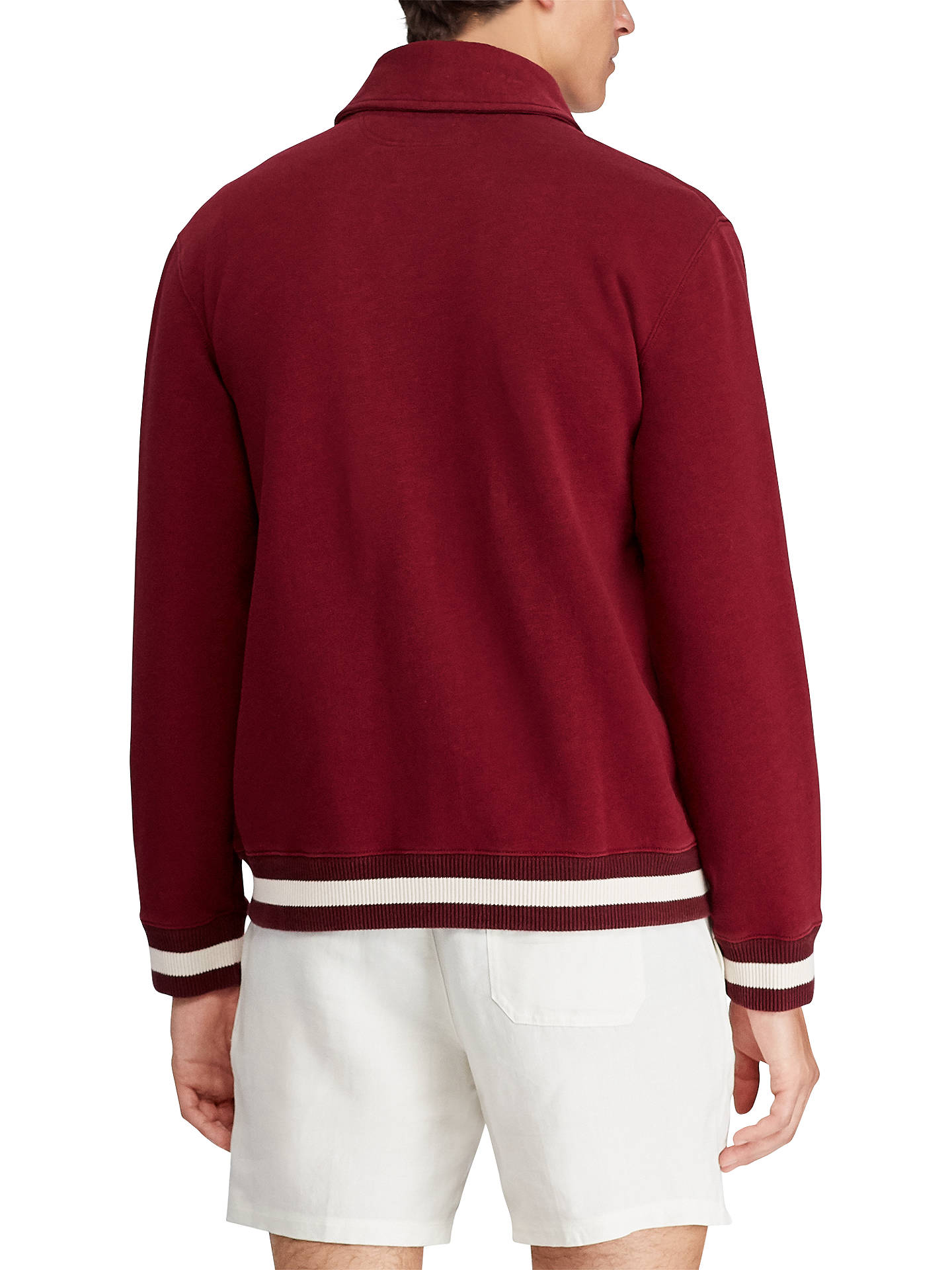 BuyPolo Ralph Lauren Long Sleeve Knitted Sweatshirt, Red, M Online at johnlewis.com
