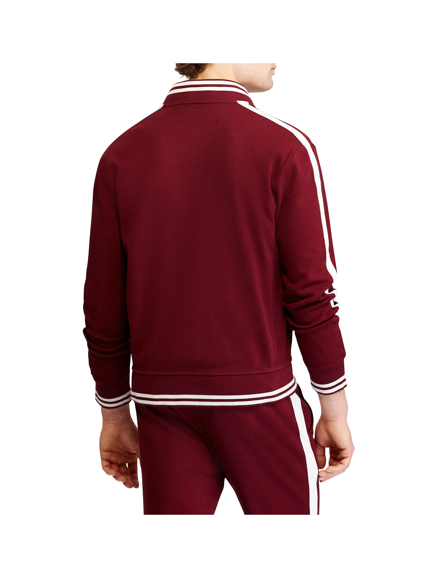 BuyPolo Ralph Lauren Long Sleeve Baseball Jacket, Classic Wine, M Online at johnlewis.com