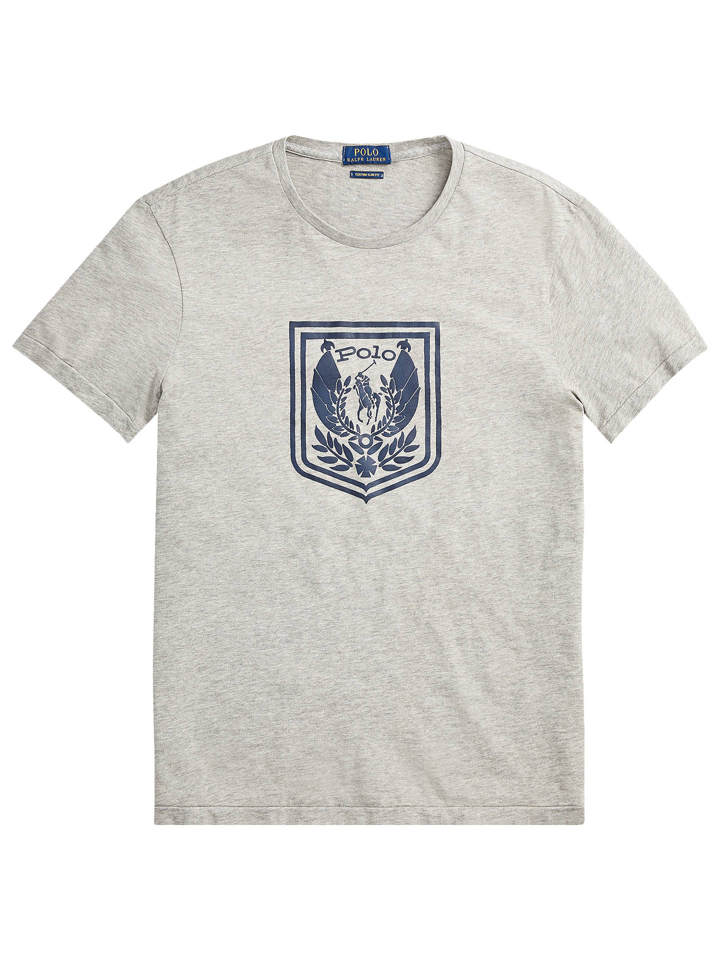 BuyPolo Ralph Lauren Short Sleeve Logo T-Shirt, Andover Heather, S Online at johnlewis.com