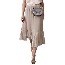 Buy Reiss Pleated Maxi Skirt, Neutral Online at johnlewis.com