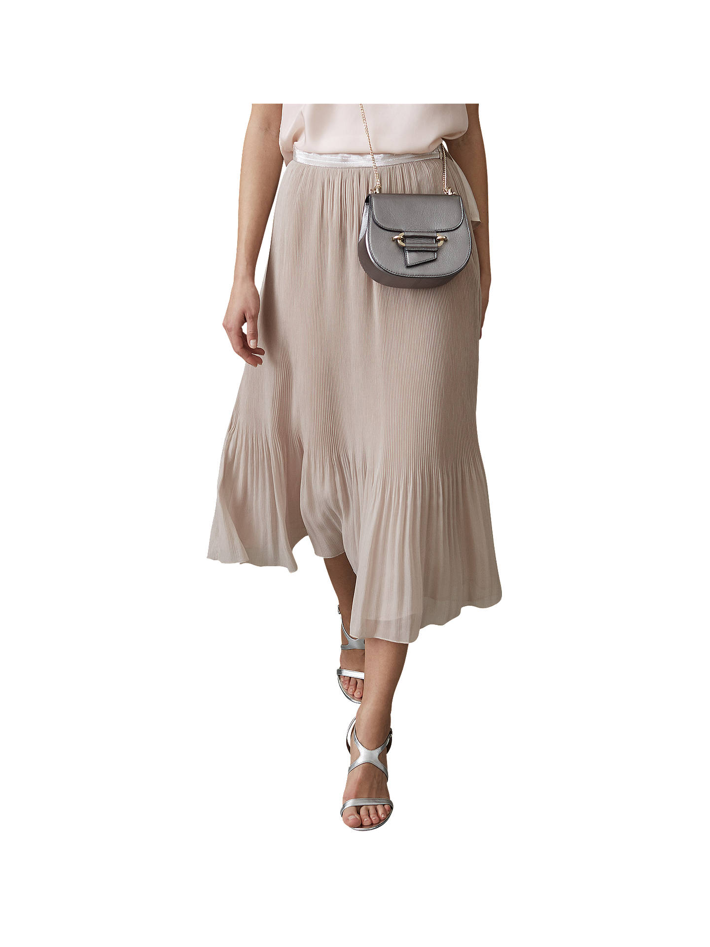 c1afa602f Buy Reiss Pleated Maxi Skirt, Neutral, 6 Online at johnlewis.com ...