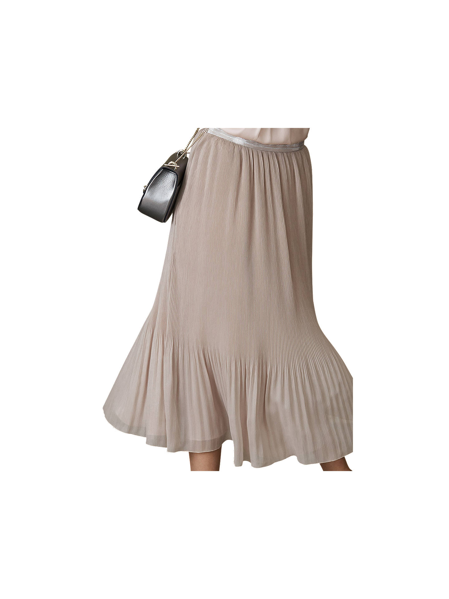 c320f7eae ... Buy Reiss Pleated Maxi Skirt, Neutral, 6 Online at johnlewis.com ...