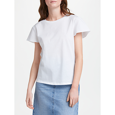 Finery Doveton Angel Sleeve T-Shirt, White