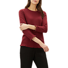 Buy Jaeger Ruffle Collar and Cuff Jersey Top Online at johnlewis.com
