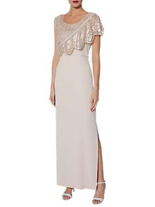Gina Bacconi Henrietta Maxi Dress, Antique Rose