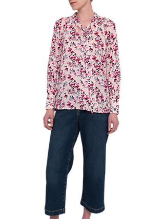 French Connection Linosa Crepe Ditsy Blouse, Barley Pink