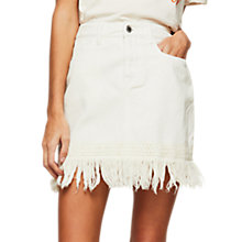 Buy Miss Selfridge Tassle Denim Mini Skirt Online at johnlewis.com