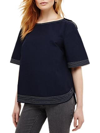 Phase Eight Hanna Button Blouse, Pitch Blue