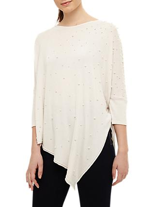 Phase Eight Patricia Pearl Asymmetric Jumper, Cream