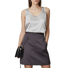 Buy Reiss Gene Button Pocket Mini Skirt, Charcoal Online at johnlewis.com