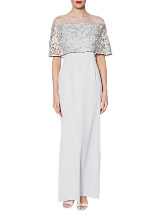 Gina Bacconi Minerva Embroidered Maxi Dress