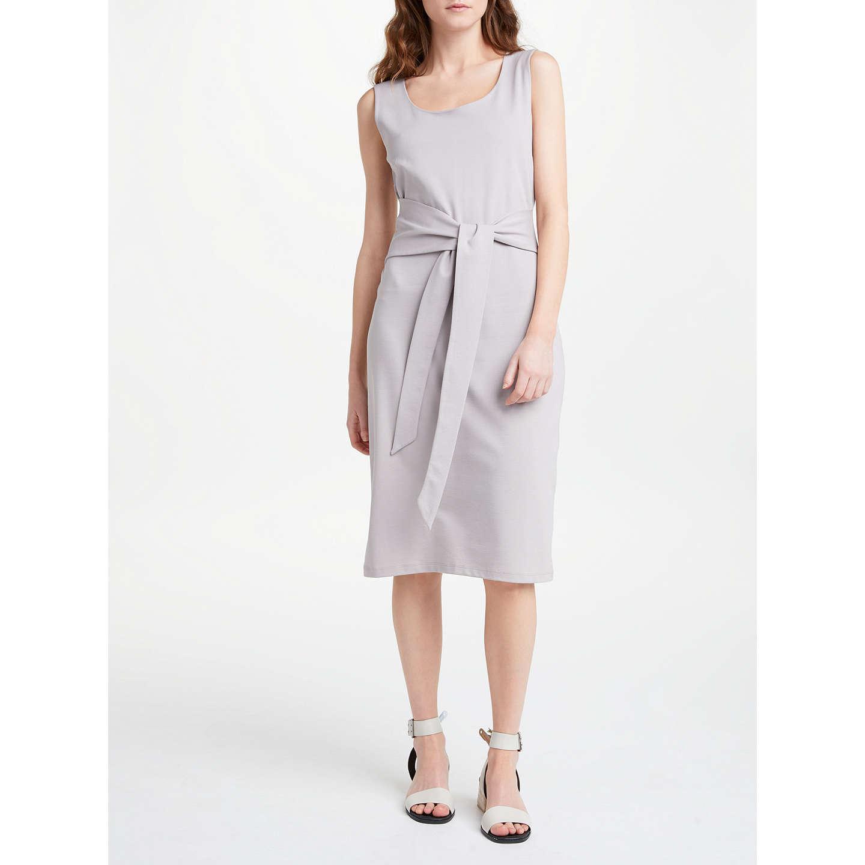 Gretton Lavender Grey Tie Front Midi Dress Finery