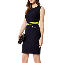 Buy Karen Millen Athleisure Belted Dress, Navy Online at johnlewis.com