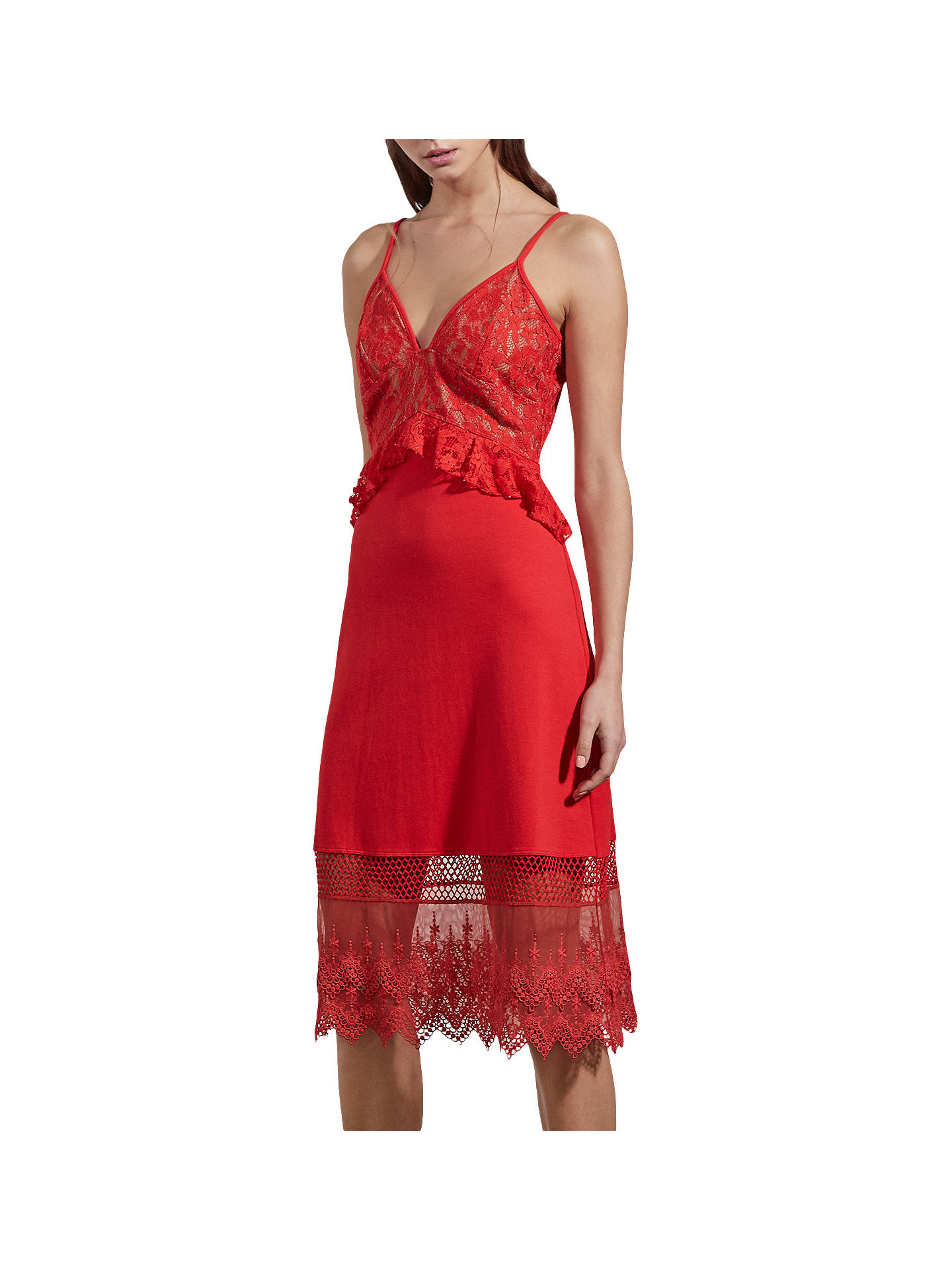 French Connection Delos Lucky Strappy Dress Shanghai Red