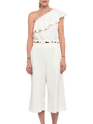 French Connection Whisper Ruth Culottes, Summer White