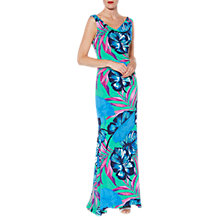 Buy Gina Bacconi Tropical Print Maxi Dress, Multi Online at johnlewis.com