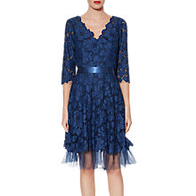 Buy Gina Bacconi Dawn Floral Embroidered Dress, Navy Online at johnlewis.com