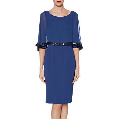 Image of Gina Bacconi Crepe Chiffon Dress