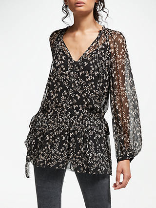 Buy AND/OR Lydia Ivy Print Top, Black, 16 Online at johnlewis.com